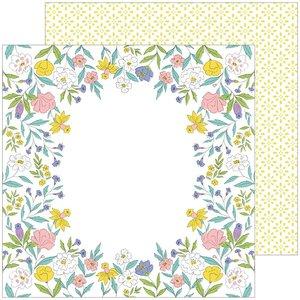 """Papel 12x12"""" Happy Blooms de PinkFresh Heirloom"""