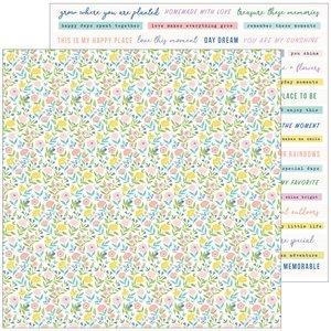 "Papel 12x12"" Happy Blooms de PinkFresh Happy Place"