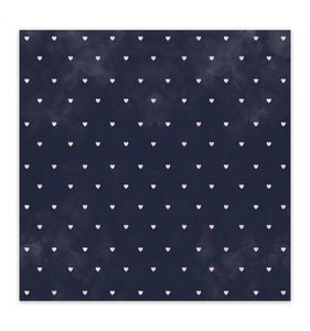 "Papel 8""x8"" Shine Bright Be Loved Navy"