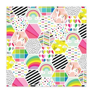 "Papel 8x8"" Color Me Happy Bee Happy"