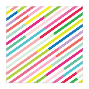 "Papel 8x8"" Color Me Happy Candy Stripes"