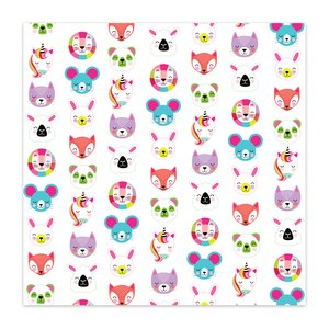 "Papel 8x8"" Color Me Happy Cute Critters"