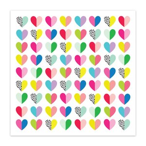 "Papel 8x8"" Color Me Happy Heart Eyes"