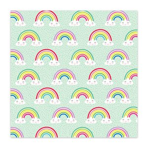 "Papel 8x8"" Color Me Happy Over the Rainbow"
