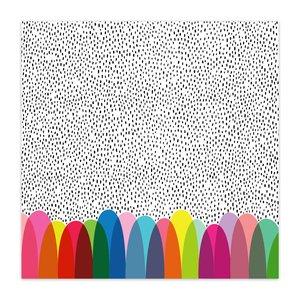 "Papel 8x8"" Color Me Happy Polka Dot Party"
