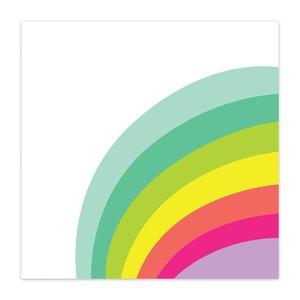 "Papel 8x8"" Color Me Happy Rainbow Connection"