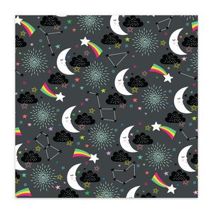 """Papel 8x8"""" Color Me Happy Starlight Starbright"""