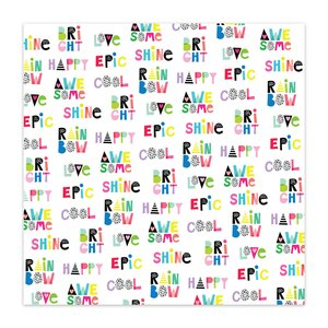 "Papel 8x8"" Color Me Happy Word Jumble"