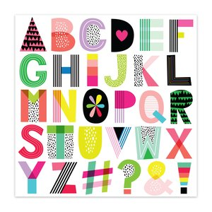 "Acetato 8x8"" Color Me Happy Alphabet Soup"