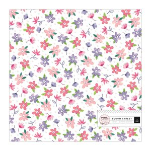"Acetato 12""x12"" con foil iridiscente Bloom Street"