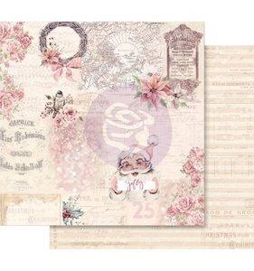 """Papel 12x12"""" Esp. Foil Rosa Grand Christmas Exhibition"""