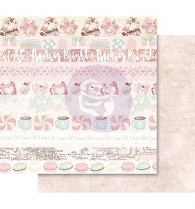 """Papel 12x12"""" Esp. Foil Rosa Let It Snow"""