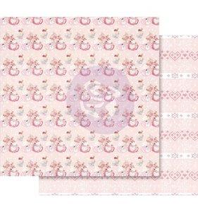 """Papel 12x12"""" Esp. Foil Rosa Warm & Cozy"""