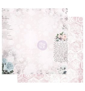 "Papel 12""x12"" Poetic Rose Waiting for the one"