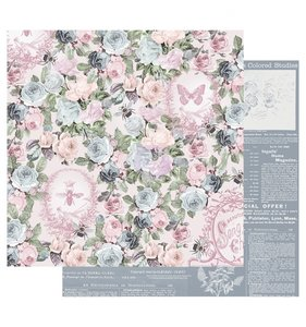 "Papel 12""x12"" Poetic Rose Royal Command"