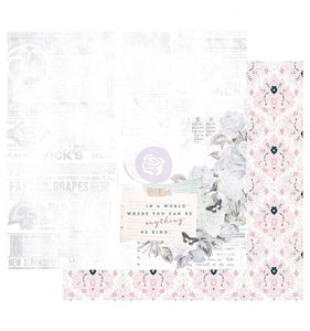"""Papel 12""""x12"""" Poetic Rose Kindness Taker Over"""