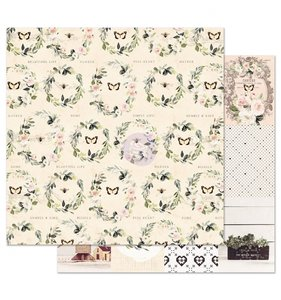 "Papel 12""x12"" Spring Farmhouse Full Heart"