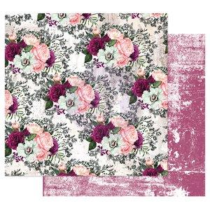 "Papel 12x12"" col. Pretty Mosaic de Prima Lovely Clusters"