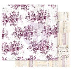 "Papel 12x12"" col. Pretty Mosaic de Prima Floral Toile"