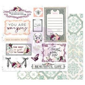 "Papel 12x12"" col. Pretty Mosaic de Prima Beautiful Life"
