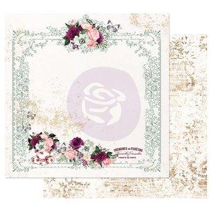 """Papel 12x12"""" col. Pretty Mosaic de Prima Tea and Roses"""