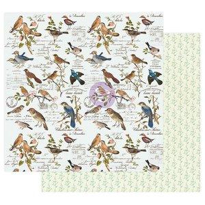 "Papel 12x12"" col. Naure Lover de Prima Where the birds meet"