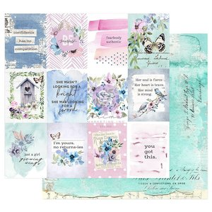 "Papel 12x12"" col. Watercolor Floral de Prima Dreamy Florals"