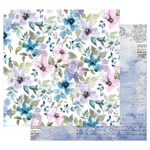 """Papel 12x12"""" col. Watercolor Floral de Prima In the Water Garden"""