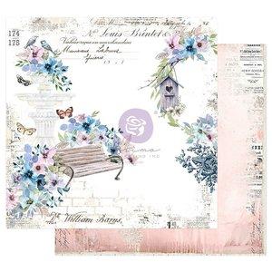 """Papel 12x12"""" col. Watercolor Floral de Prima Watercolor Cards"""