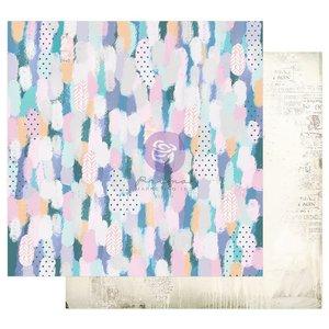 """Papel 12x12"""" col. Watercolor Floral de Prima Artful Bruskstrokes"""
