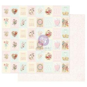 """Papel 12x12"""" col. Magic Love de Prima Love Stamps"""