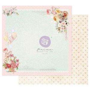 "Papel 12x12"" col. Magic Love de Prima Pink Cloud"