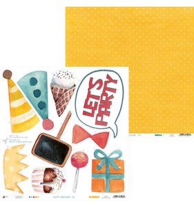 "Papel 12""x12"" Happy Birthday 01"
