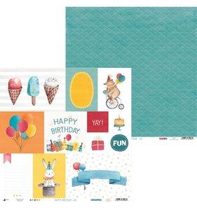 """Papel 12""""x12"""" Happy Birthday 06"""