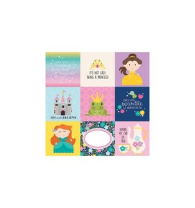 "Papel 12""x12"" Little Princess 4x4 Elements"
