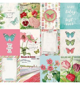 "Papel 12""x12"" Simple Vintage Botanicals 3x4 Elements"