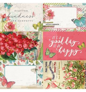 "Papel 12""x12"" Simple Vintage Botanicals 4x6 Elements"