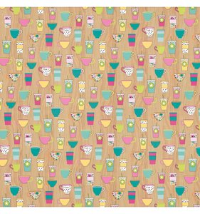 """Papel 12""""x12"""" Oh Happy Day! It's coffee O'Clock"""
