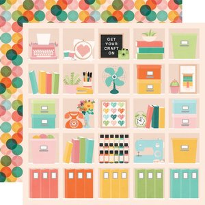 """Papel 12""""x12"""" Hey Crafty Girl Happy Place"""
