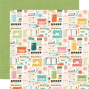 """Papel 12""""x12"""" Hey Crafty Girl Makers gonna make"""