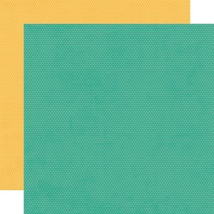 """Papel 12""""x12"""" Hey Crafty Girl Turquoise/Sunflower Dots"""