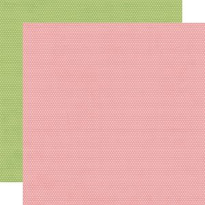 """Papel 12""""x12"""" Hey Crafty Girl Rose/Pear Dots"""