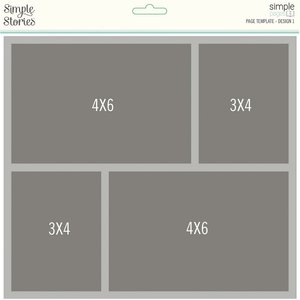 Plantilla para Layouts Simple Stories Design 1