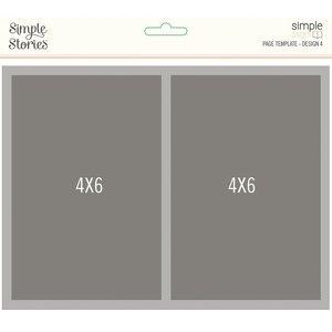 Plantilla para Layouts Simple Stories Design 4