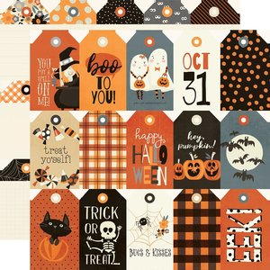 "Papel 12x12"" Simple Stories Boo Crew Tags"