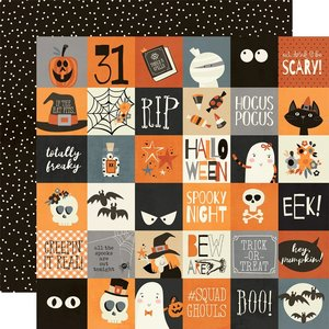 "Papel 12x12"" Simple Stories Boo Crew 2X2 Elements"
