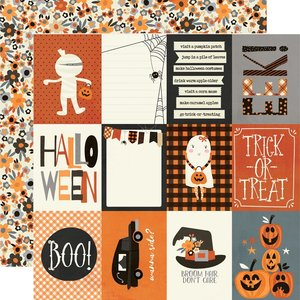 "Papel 12x12"" Simple Stories Boo Crew 3x4 Elements"