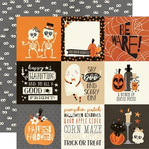 "Papel 12x12"" Simple Stories Boo Crew 4x4 Elements"
