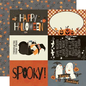 "Papel 12x12"" Simple Stories Boo Crew 4x6 Elements"