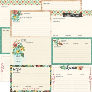 "Papel 12""x12"" Apron Strings Recipe Cards"
